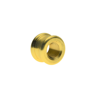 "M10 x 11/16"" OD x 1/2"" Ornamental Brass Coupler"