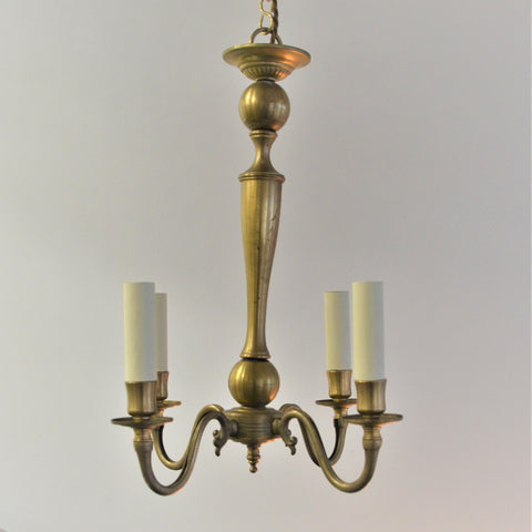 4 Arm Brass Chandelier