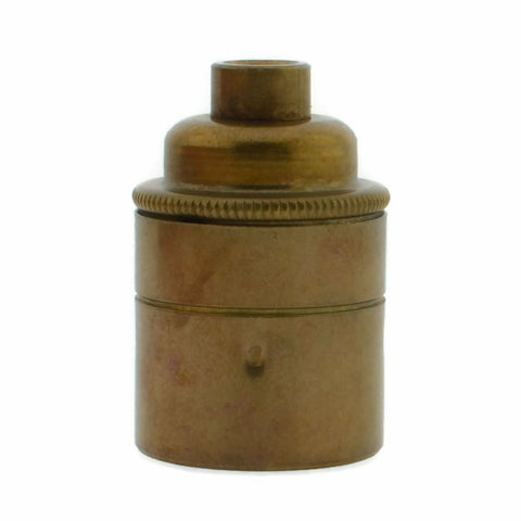 Old English Brass 10mm Threaded Entry E27 Lamp/Light Bulb Holder