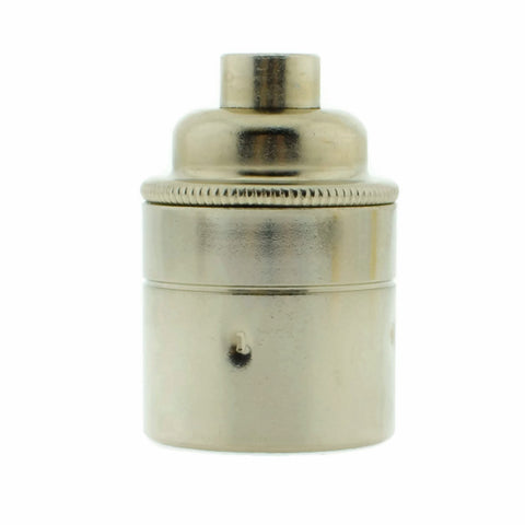 Nickel Plated 10mm Threaded Entry E27 Lamp/Light Bulb Holder
