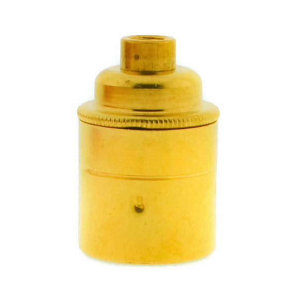 Brass 10mm Threaded Entry E27 Lamp/Light Bulb Holder