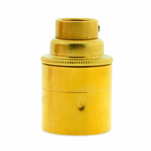 Brass 20mm Threaded Entry E27 Lamp/Light Bulb Holder for Galvanised Conduit