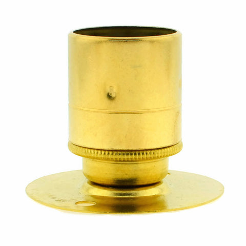 Brass BESA Batten Holder for E27 with Plain Skirt