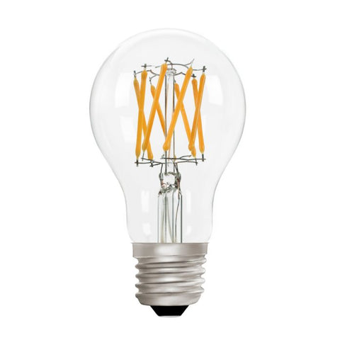 Zico LED Filament Lamp, E27, 6W, 2700K, A60 GLS, Clear, Dimmable