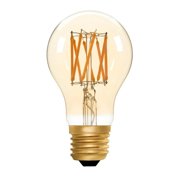 Zico LED Filament Lamp, E27, 6W, 2200K, A60 GLS, Amber, Dimmable