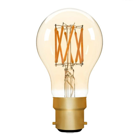 Zico LED Filament Lamp, B22, 6W, 2200K A60 GLS, Amber, Dimmable