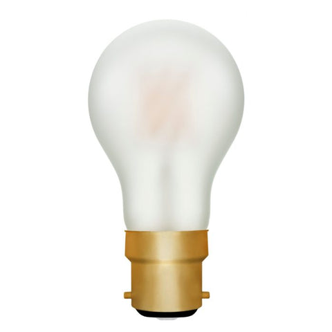 Zico LED Filament Lamp, B22, 6W, 2200K, A60 GLS, Frosted, Dimmable
