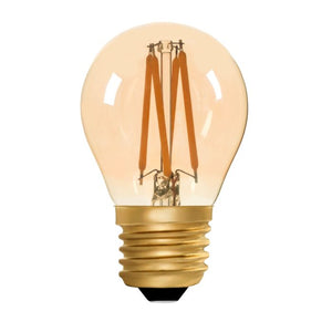 Zico LED Filament Lamp, E27, 4W, 2200K, G45 Golfball, Amber, Dimmable