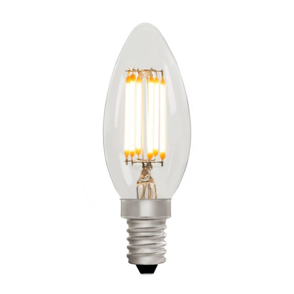 Zico LED Filament Lamp, E14, 6W, 2700K, C35 Candle, Clear, Dimmable