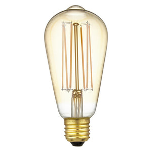 Calex LED Filament Lamp, E27, Pear/Squirrel Cage, Dimmable