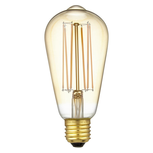 Calex LED Filament Lamp, E27, 4W, 2100K, ST64 Squirrel Cage, Gold, Dimmable