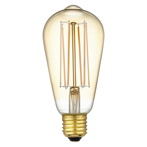 Calex LED Filament Lamp, E27 & B22, Pear/Squirrel Cage, Dimmable