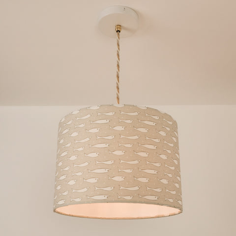 Fish Lampshade, plus Pendant and LED Filament Lamp