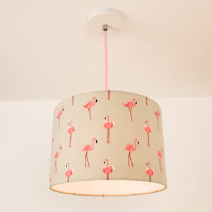 Flamingo Lampshade, plus Pendant and LED Filament Lamp