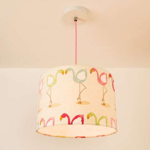 Multicoloured Flamingo Lampshade, plus Pendant and LED Filament Lamp