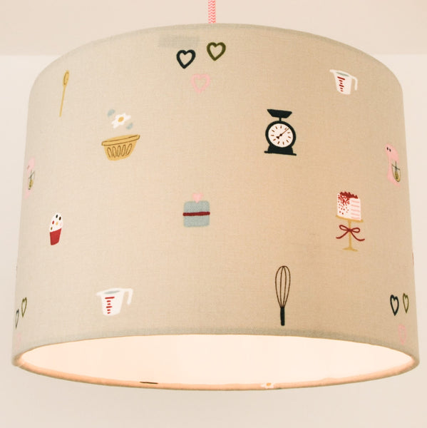 Fabric Drum Lampshades for Desk/Table/Floor Light Fittings