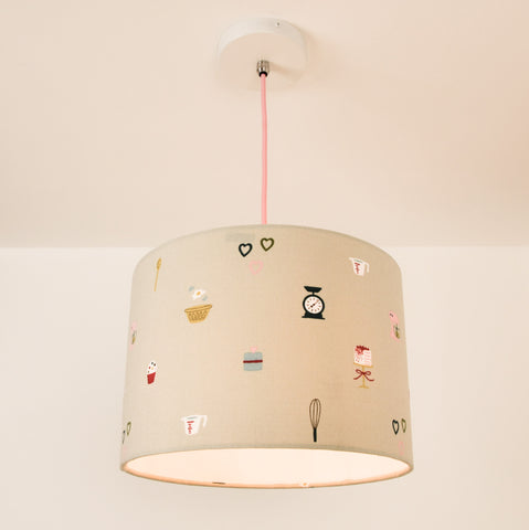 Kitchen Lampshade, plus Pendant and LED Filament Lamp