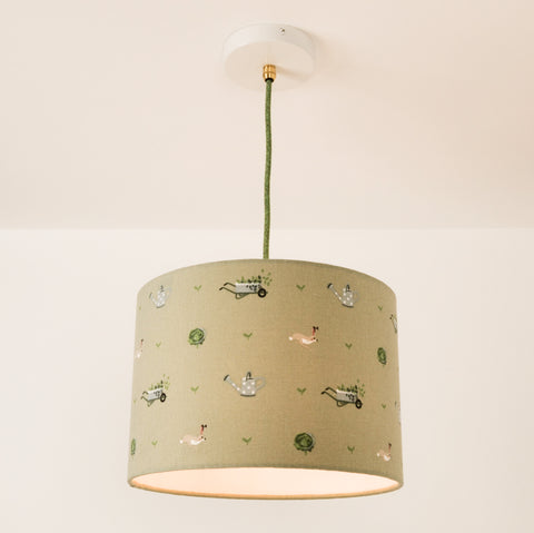 Gardening Lampshade, plus Pendant and LED Filament Lamp