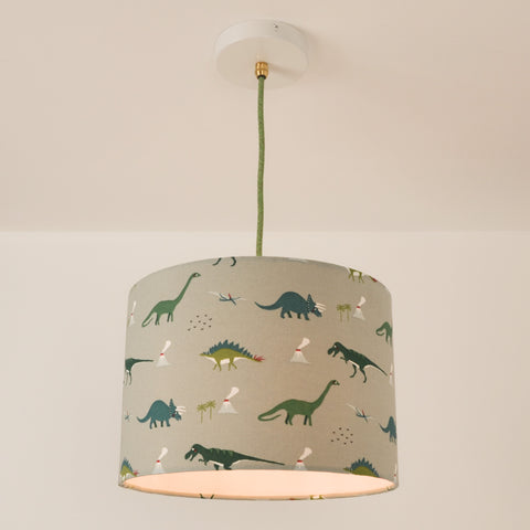 Dinosaur Lampshade, plus Pendant and LED Filament Lamp
