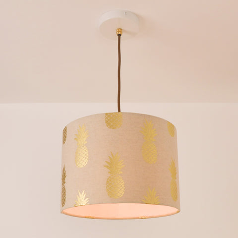 Pineapple Lampshade, plus Pendant and LED Filament Lamp