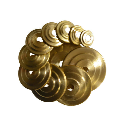 Raw Brass Stepped Discs
