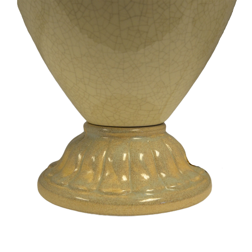 Ivory Crackle Glazed Urn Table Light