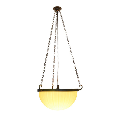 Jefferson & Co. Moonstone Plafonnier Pendant Light - Double Ribbed Bowl