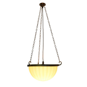 Jefferson & Co. Moonstone Plafonnier Pendant Light - Single Ribbed Bowl