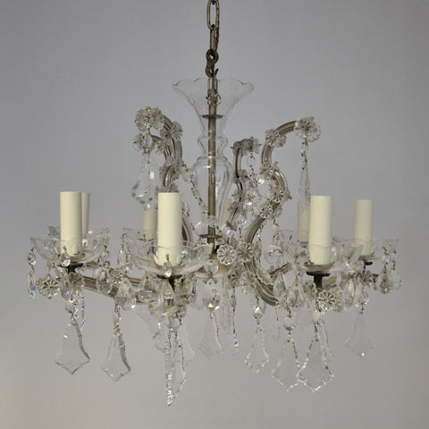 French 8 Arm Chandelier
