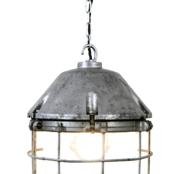 Vintage Industrial Soviet Warehouse / Factory Pendant Light from 1960's