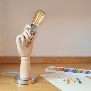 Artists Hand Mannequin Table Light with LED Filament Lamp