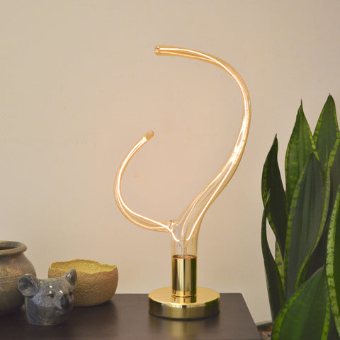 Brass Desk Light with Antler LED Filament Lamp