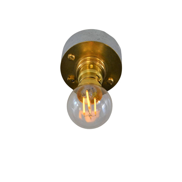 Industrial Single Wall or Ceiling Light, plus LED Filament Lamp