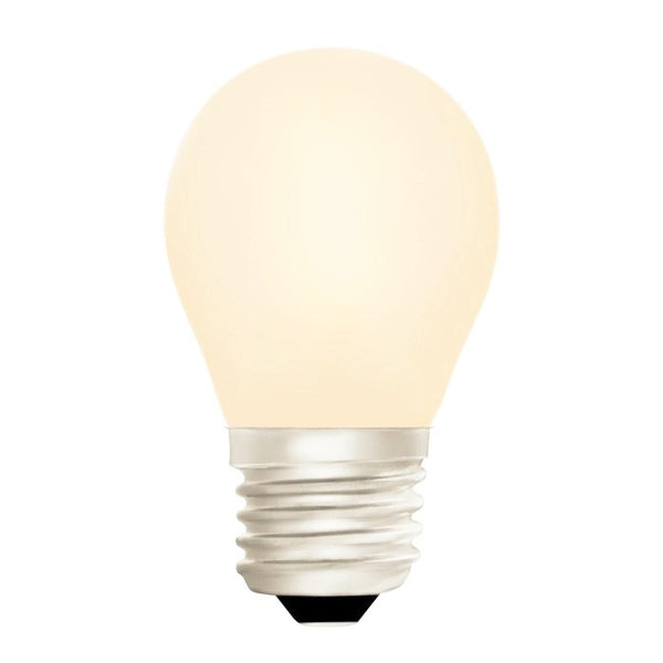 Zico LED Filament Lamp, E27, 4W, 2700K, G45 Golfball, Opal, Dimmable