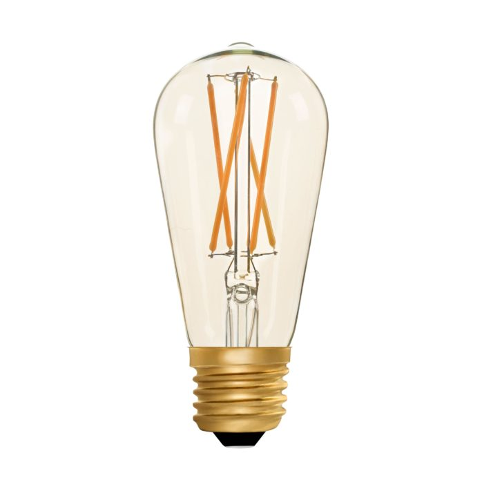 Zico LED Filament Lamp, E27, 2W, 2200K, ST64 Squirrel Cage, Amber, Dimmable