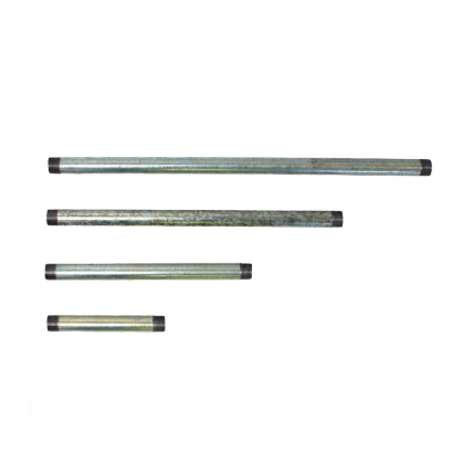 20mm Threaded Galvanised Steel Conduit Tube - 100mm - 500mm