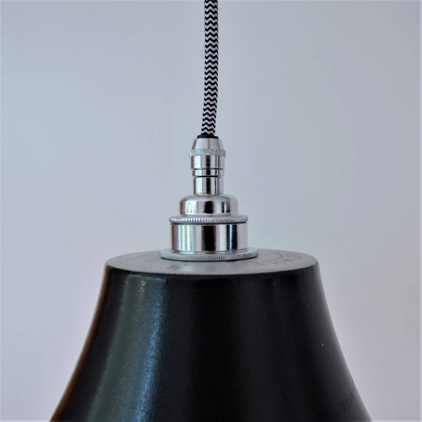 Vinyl Record Stretched Lampshade, plus Pendant and LED Filament Lamp