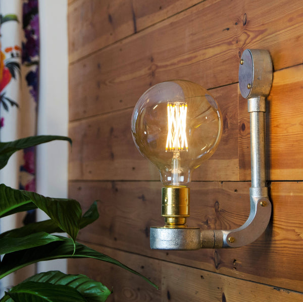 Industrial Wall Light with Toggle Option, plus LED Filament Lamp