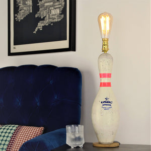 Bowling Pin Light, plus LED Filament Lamp