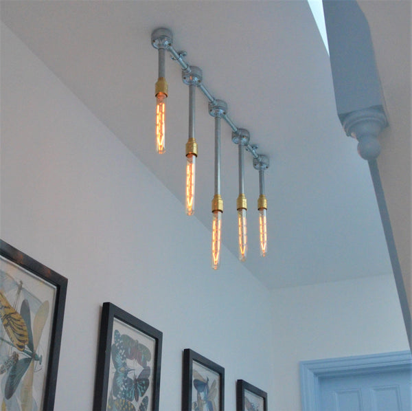 Industrial Icicle Chandelier, plus LED Filament Lamps
