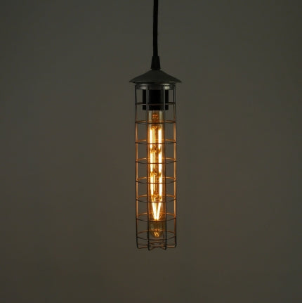 Bright Goods LED Filament Lamp, E27, T30 Tube, Dimmable