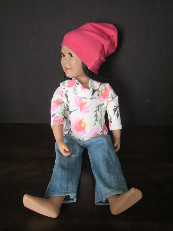 Turtle Neck, Jeans & Hat Set