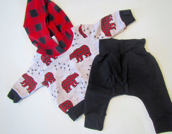 Bear Plaid Set