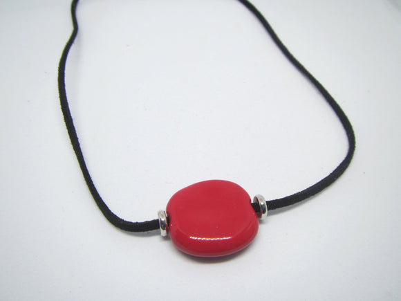 Red Leather Necklace
