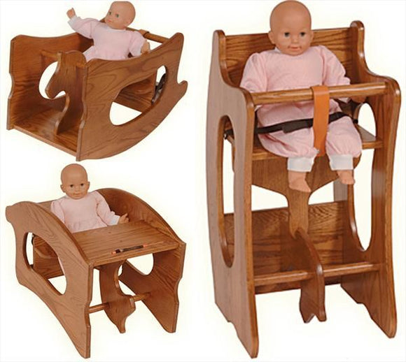 High Chair/Desk/Rocking Horse 3 in 1