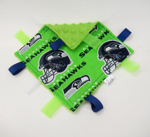 Small Seattle Seahawk Taggy Blanket