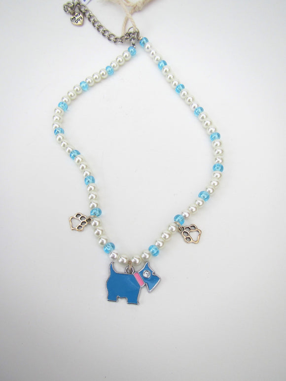 Blue Dog Necklace