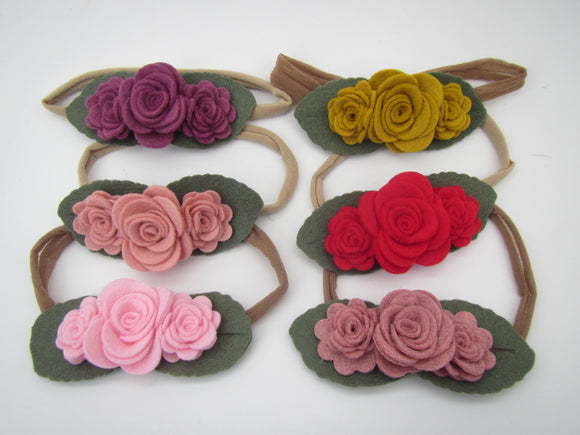 Trio With Leaves Headband