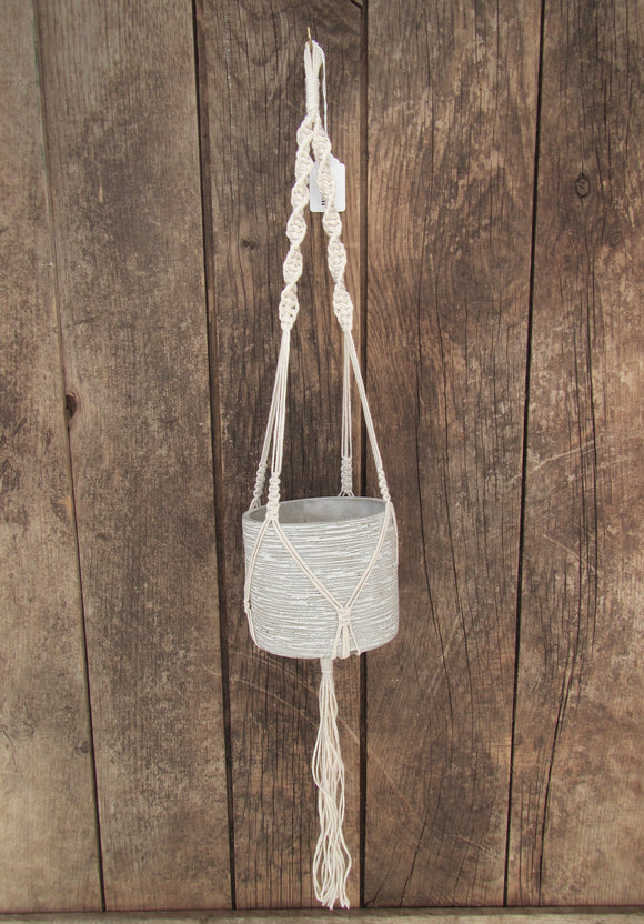 Macrame Pot Holder #1