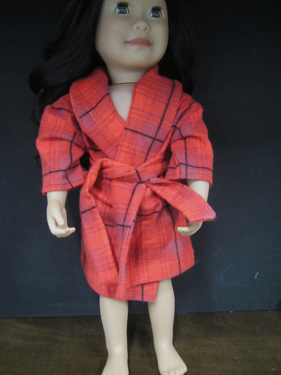 Red Plaid House Coat